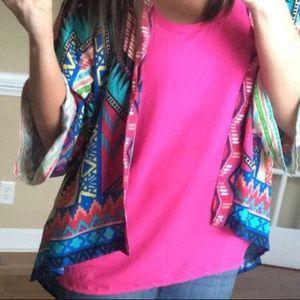 Slinky pink top